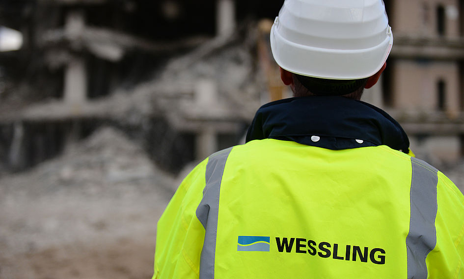 WESSLINg employee on a construction site